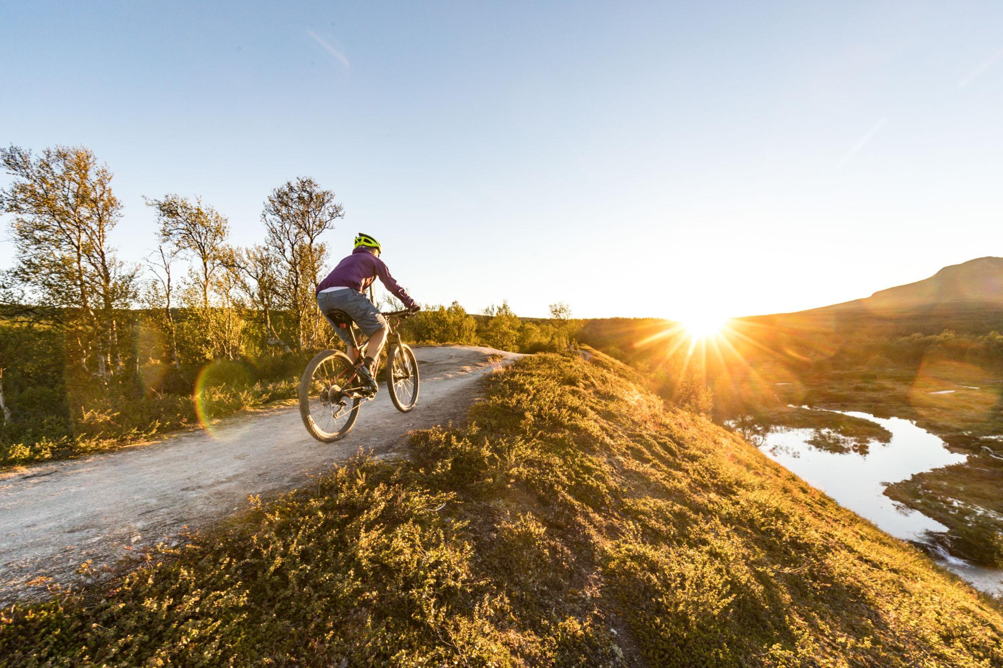 solnedgang-cykel
